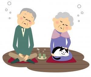 老夫婦と猫
